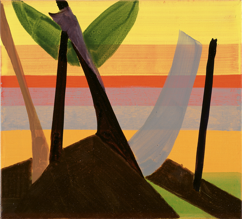 Hans-Willi Notthoff – TOBAGO – Sunset, 45 x 50 cm, Öl auf Leinwand, 1999