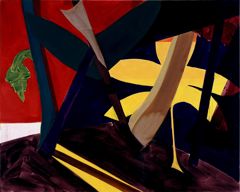 Hans-Willi Notthoff – TOBAGO – Dschungel, 160 x 200 cm, Öl auf Leinwand, 1999