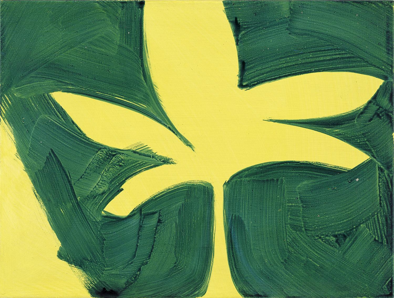 Hans-Willi Notthoff – TOBAGO – Gelbe Banane, 45 x 60 cm, Öl auf Leinwand, 1999