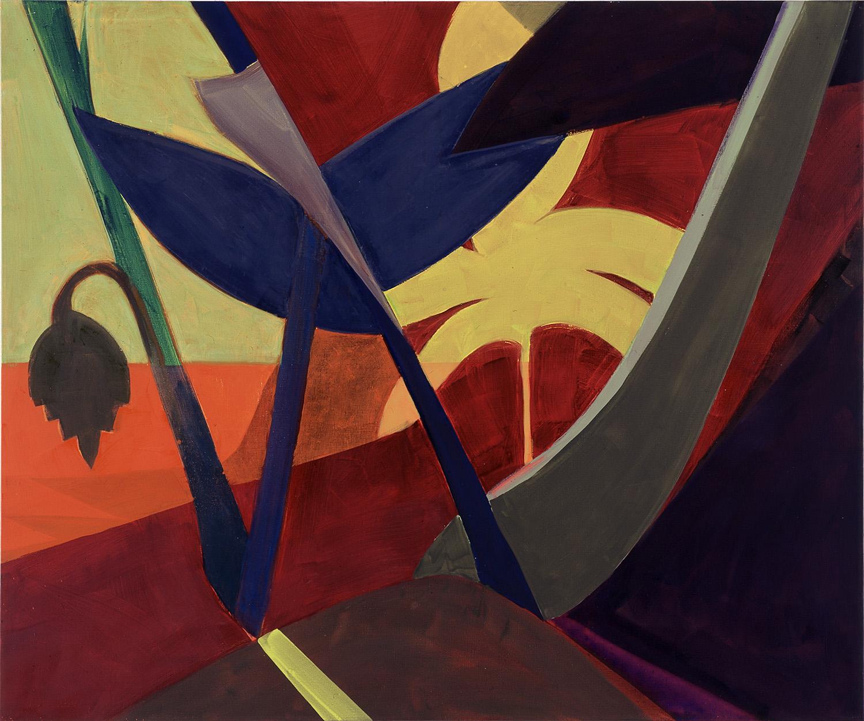 Hans-Willi Notthoff – TOBAGO – Roter Garten, 150 x 180 cm, Öl auf Leinwand, 1999