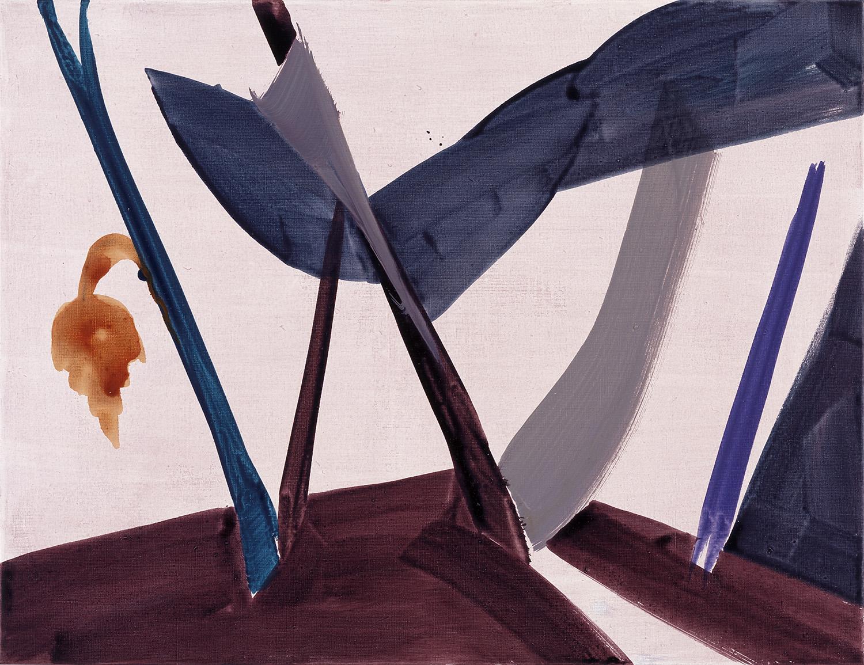 Hans-Willi Notthoff – TOBAGO – Grauer Garten, 65 x 85 cm, Öl auf Leinwand, 1999