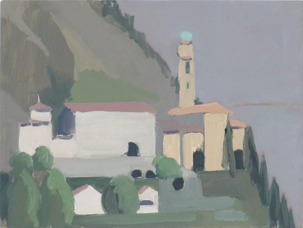 Hans-Willi Notthoff – PLEIN AIR – Morcote, 30x40 cm, Öl auf Leinwand, 2009