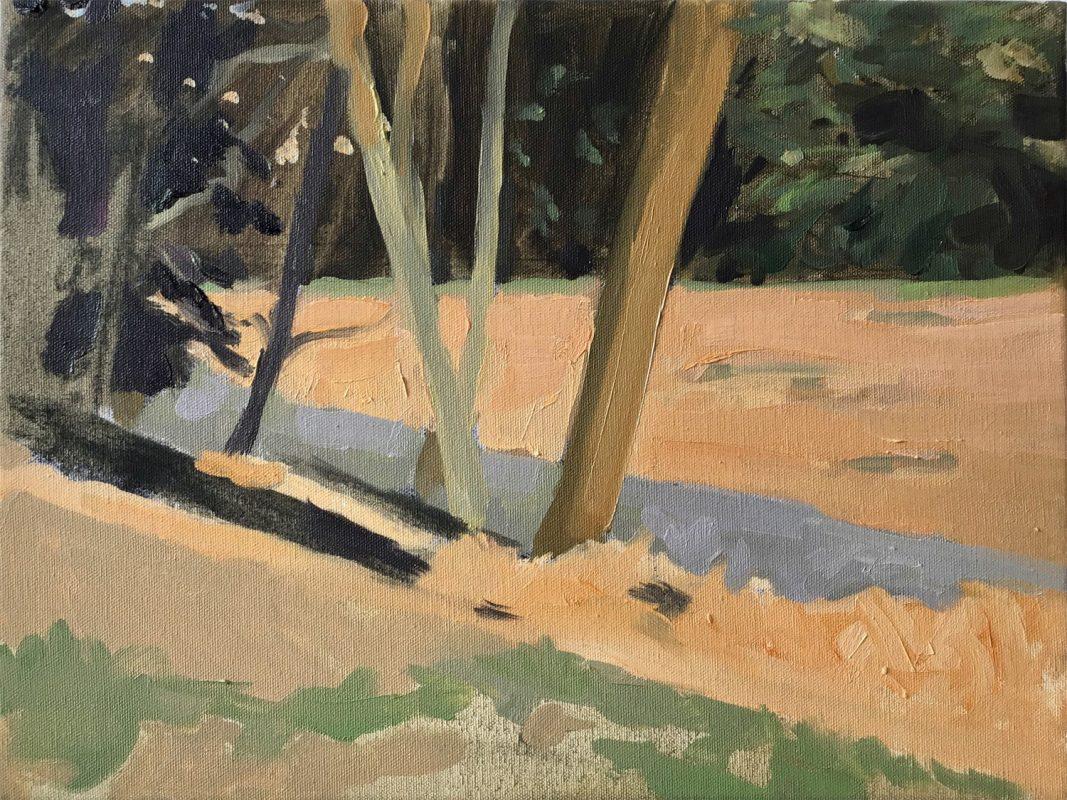 Hans-Willi Notthoff – PLEIN AIR – Avena, 30 x 40 cm, Öl auf Leinwand, 2019