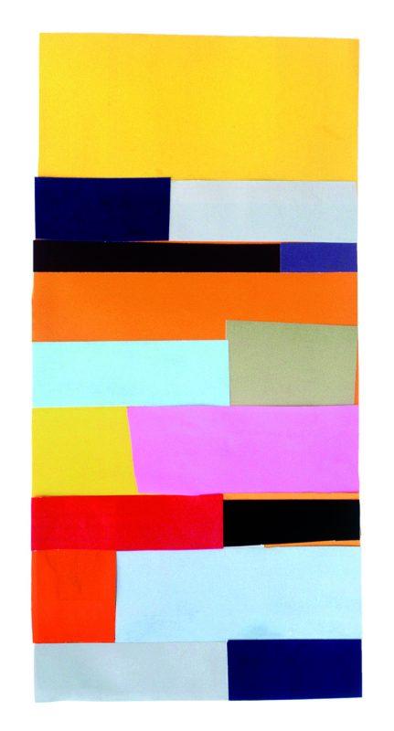 Collage, farbig bedrucktes Papier, 34 x 16 cm, 2006