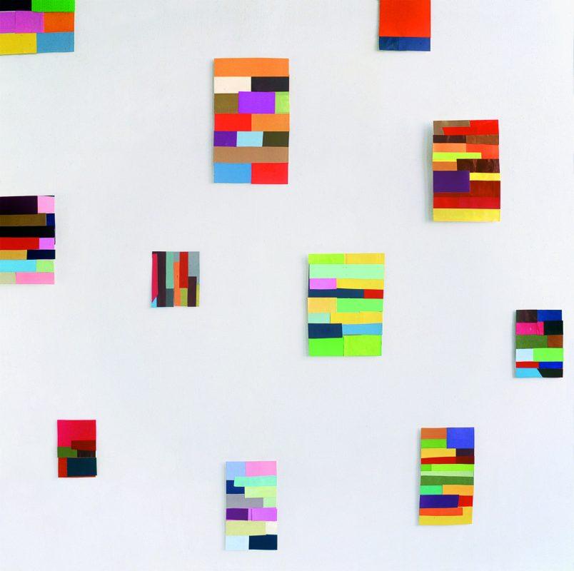 Collagen, farbig bedrucktes Papier, 2007