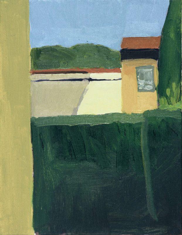 Hans-Willi Notthoff – PLEIN AIR – Florentinischer Garten, VII 18.00, 45 x 35 cm, Öl auf Leinwand, 2002
