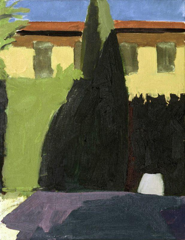Hans-Willi Notthoff – PLEIN AIR – Florentinischer Garten VI, 17.00, 35 x 45 cm, Öl auf Leinwand, 2002