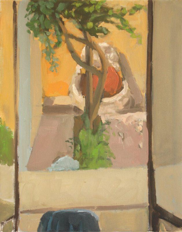 Hans-Willi Notthoff – PLEIN AIR – Fontana, 41 x 33, Öl auf Leinwand, 2018