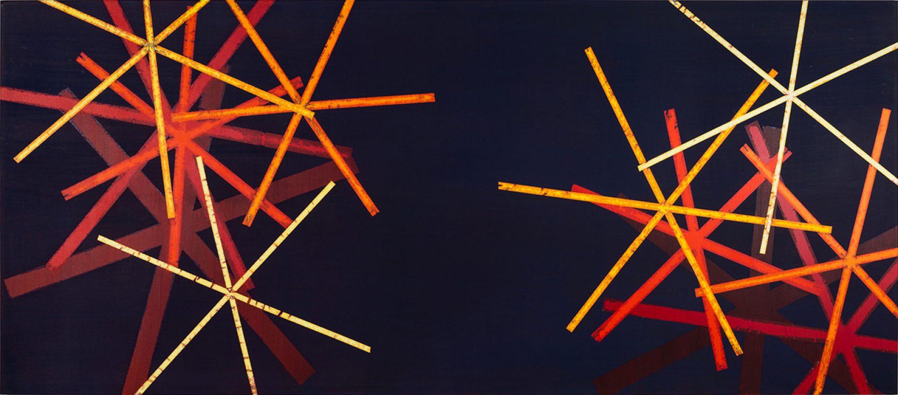 Hans-Willi Notthoff – SHIFT – 140x320 cm, Acryl und Öl auf Leinwand, 2008