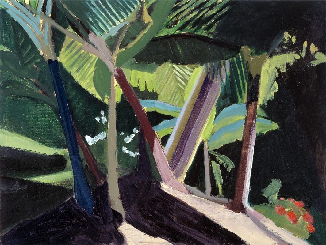 Hans-Willi Notthoff – PLEIN AIR – Garten I, 45x60, Öl auf Leinwand, 1999