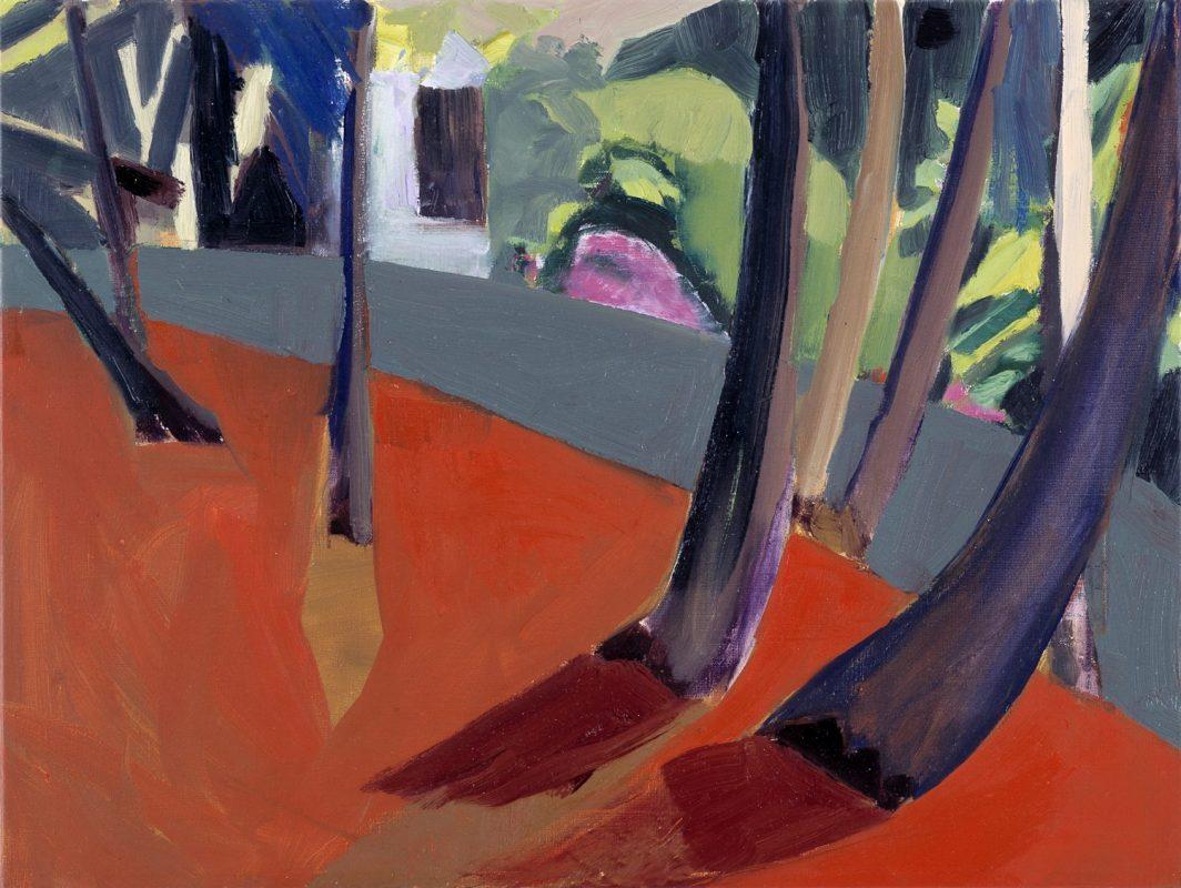 Hans-Willi Notthoff – PLEIN AIR – Garten III , 45 x 60 cm, Öl auf Leinwand, 1999