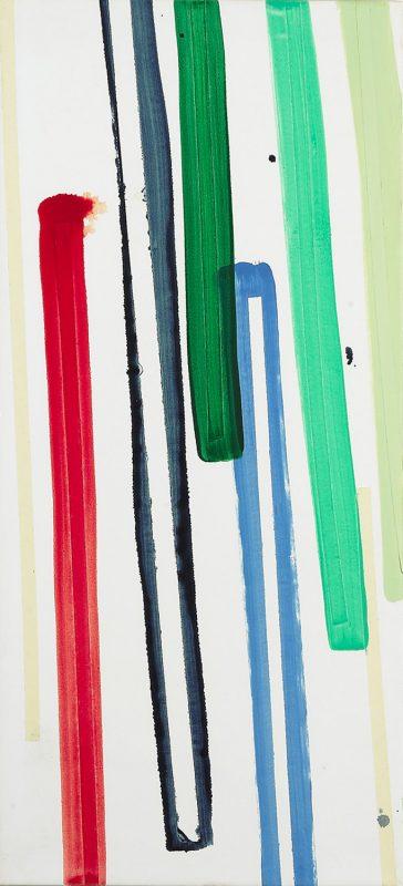 Hans-Willi Notthoff – SHIFT – 120x55 cm, Öl und Tape auf Leinwand, 2007