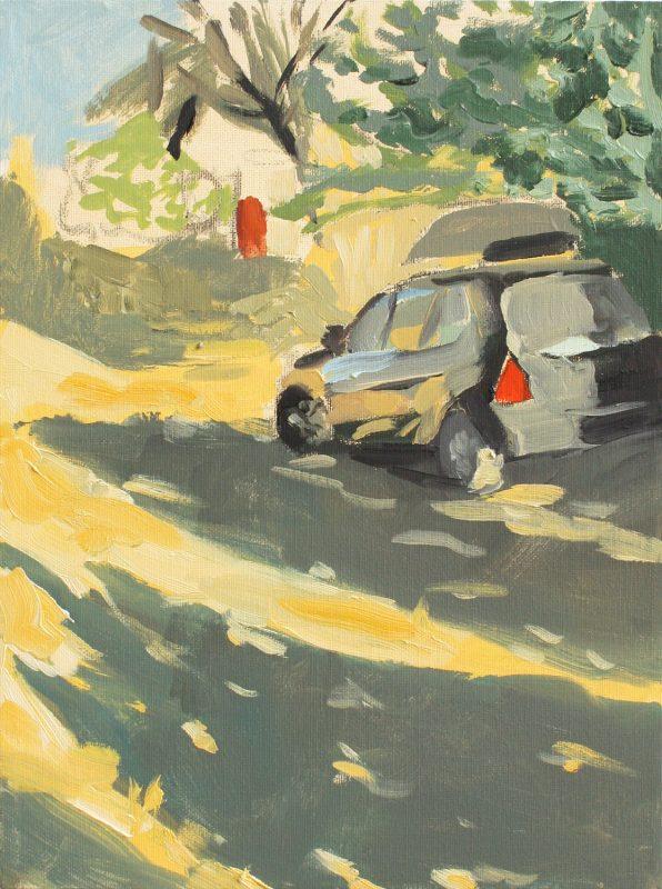 Hans-Willi Notthoff – PLEIN AIR – Via Meleto III, 40x30 cm, Öl auf Leinwand, 2012