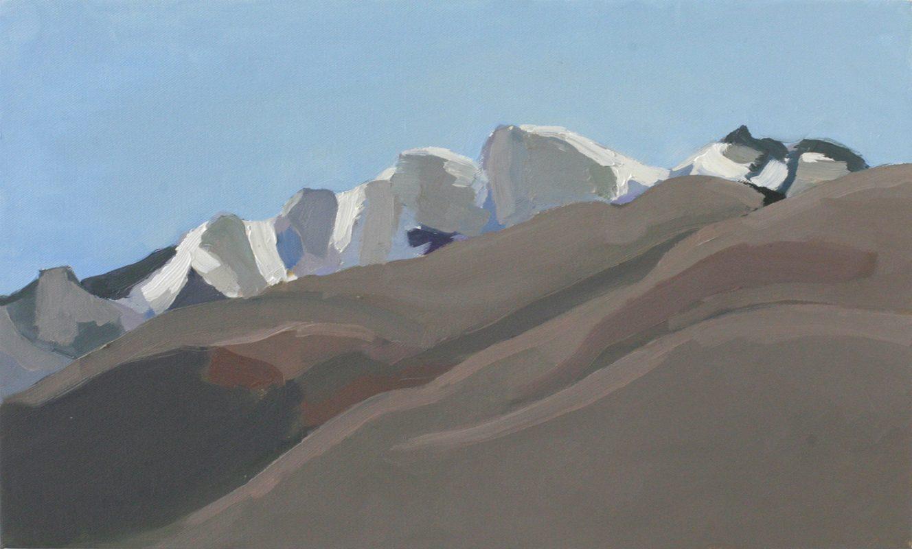 Hans-Willi Notthoff – PLEIN AIR – Monte San Giorgio, 30x50 cm, Öl auf Leinwand, 2009