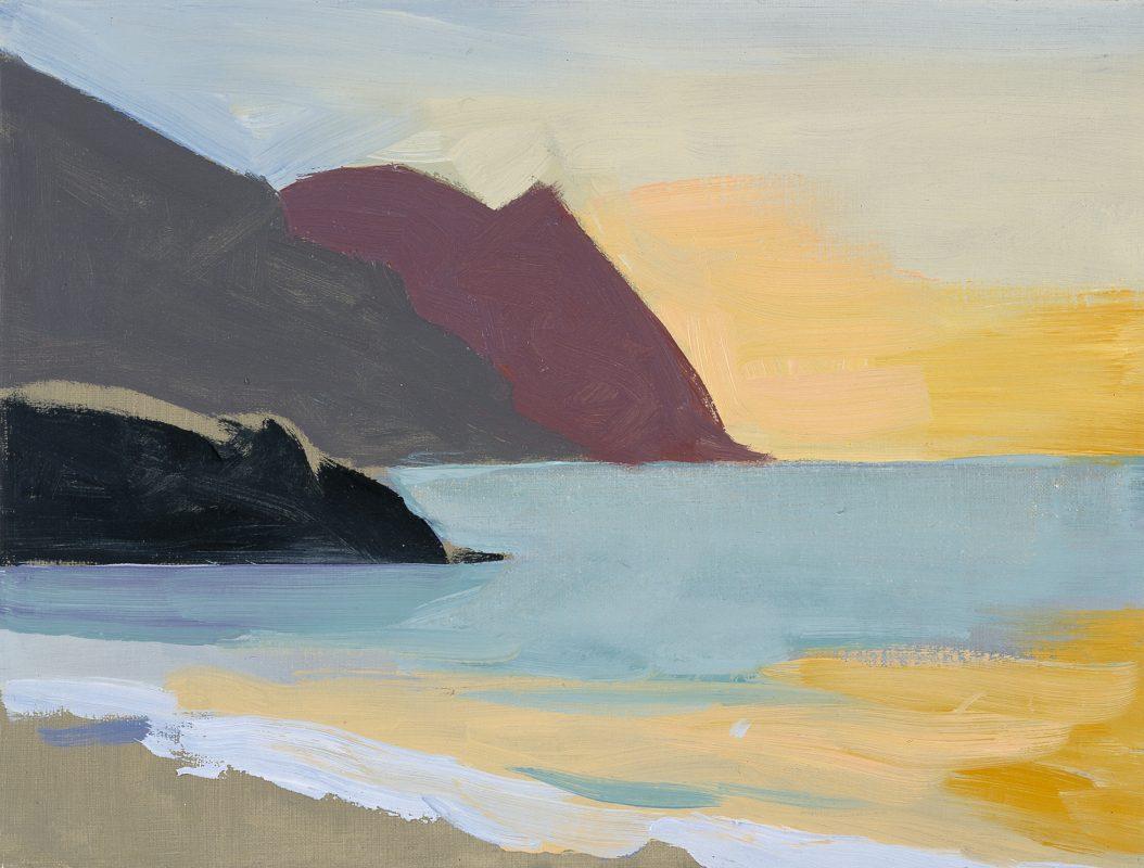 Hans-Willi Notthoff – PLEIN AIR – Palatuvier, Tobago, 30 x 40 cm, Öl auf Leinwand, 1999