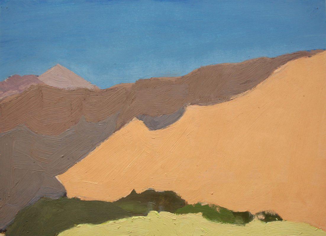 Hans-Willi Notthoff – PLEIN AIR – Purmamarca, 32 x 42 cm, Öl auf Papier, 1997