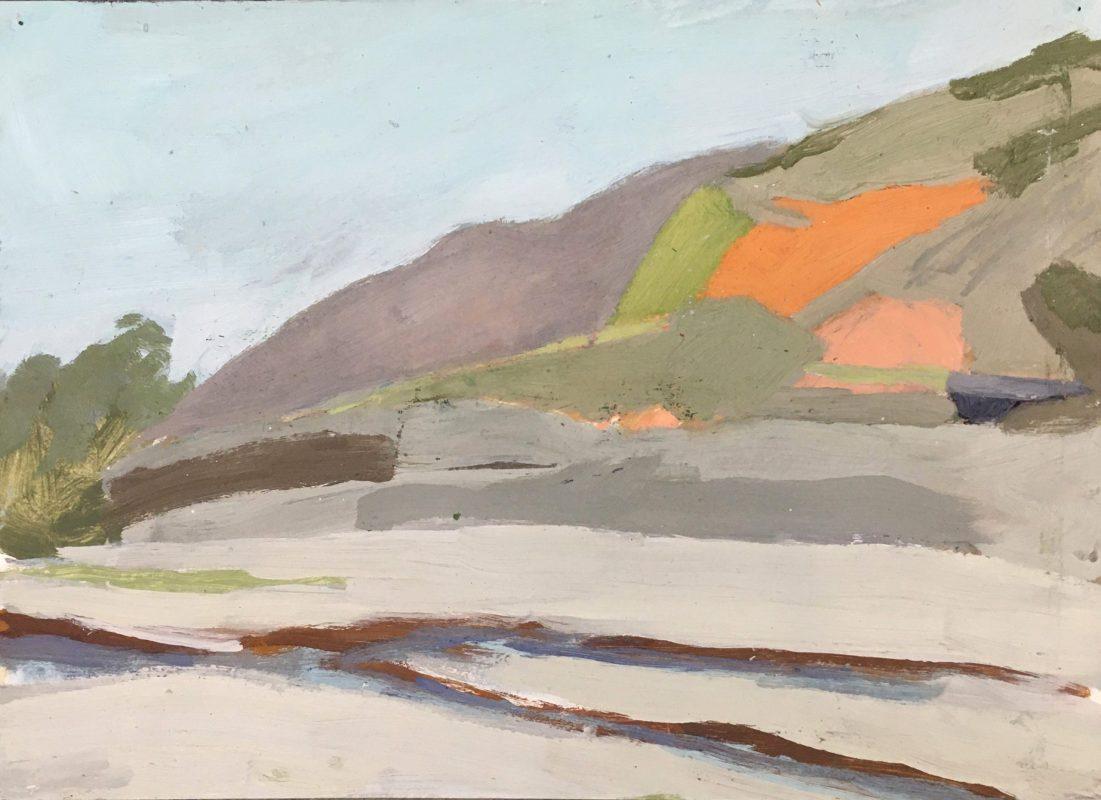 Hans-Willi Notthoff – PLEIN AIR – Purmamarca II, 32 x 42 cm, Öl auf Papier, 1997