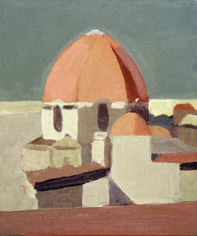 Hans-Willi Notthoff – PLEIN AIR – San Lorenzo 17.00, 35 x 25 cm, Öl auf Leinwand, 2002