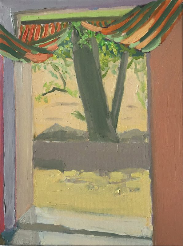 Hans-Willi Notthoff – PLEIN AIR – Tenda (aperto), 40 x 30 cm, Öl auf Leinwand, 2019