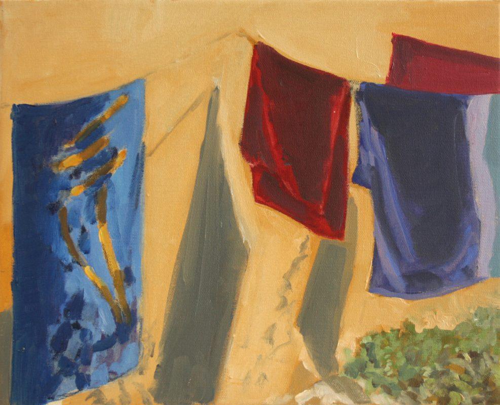 Hans-Willi Notthoff – PLEIN AIR – Toallas, 33 x 41 cm, Öl auf Leinwand, 2018