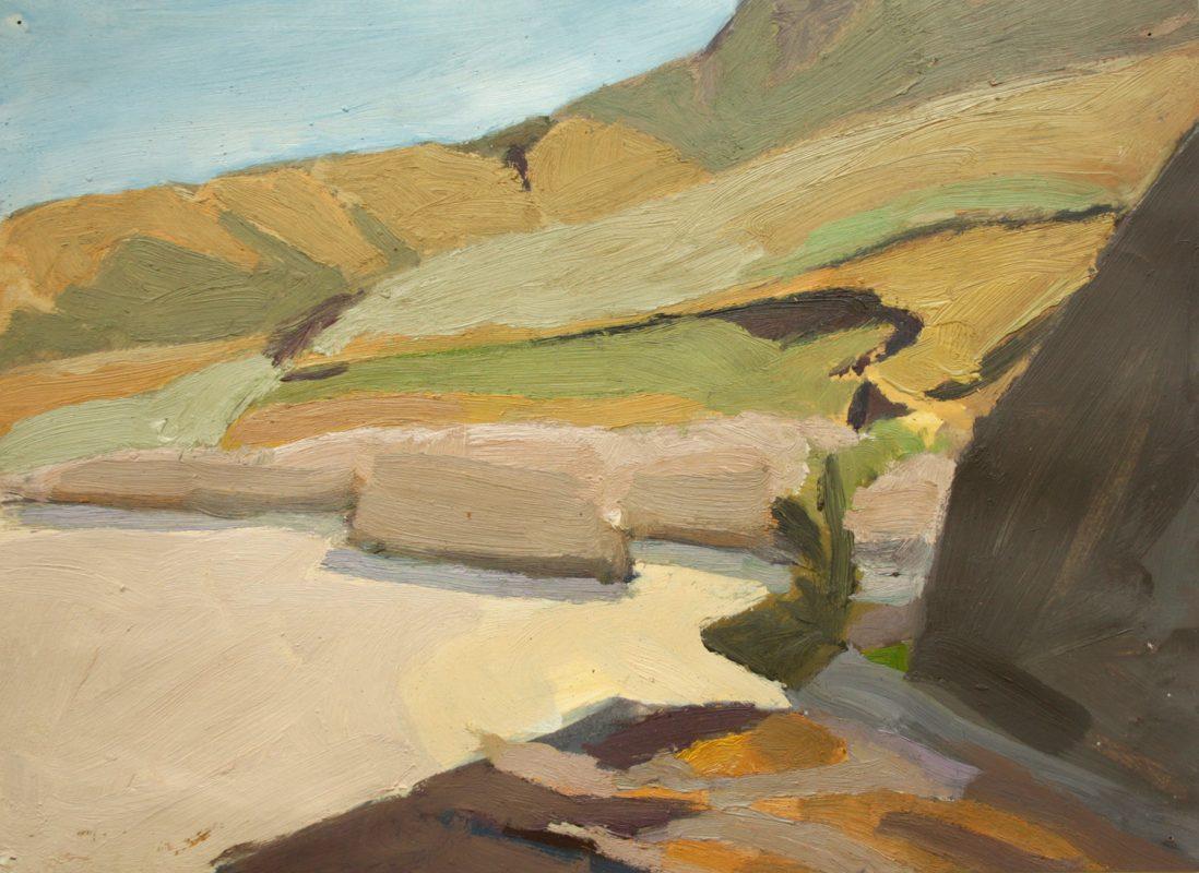 Hans-Willi Notthoff – PLEIN AIR – Yala, 32 x 42 cm, Öl auf Papier, 1997